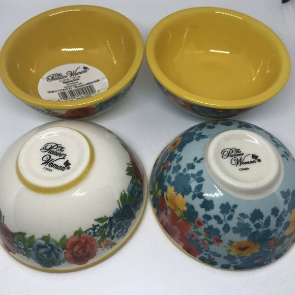 Pioneer Woman Other - Pioneer Woman Dipping Bowls Blossom Jubilee 4 Set